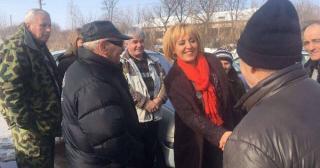 Мая Манолова  организира кампания за защита на хората от Бели бряг и Трояново